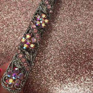 Accessories - Rhinestone Flower Clip